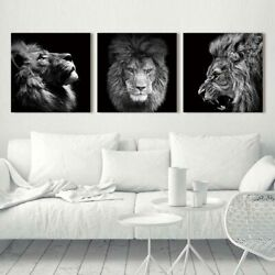 Animal Lion Art Print Wall Canvas Painting Abstract Poster Decor Living Room $12.99