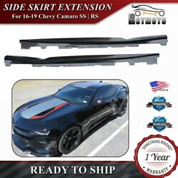 Gloss Black T6 Style Side Skirts Rocker Panels For 16-20 Chevy Camaro SS RS LT $128.99