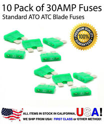 10 Pack 30 AMP Automotive ATO ATC Standard Blade Fuses 30A $4.99