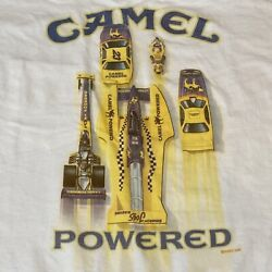 New XL Vintage 1994 RJ Reynolds Joe's Boat Racing Camel Powered Pocket T-Shirt