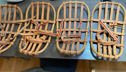VINTAGE UNUSUAL BENT WOOD SNOWSHOES Snabb SWEDEN COMPACT WELL MADE $200.00