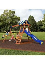 Big Backyard Dayton Wooden Cedar Swing Set Outdoor Playground Slide Playset Kid $899.00