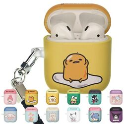 Sanrio Cute for AirPods Case with Neck Lanyard Hard PC Shell Strap Hole Cover