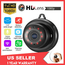 HD 1080P Mini Wifi Camera Smart Home Security Cam Night Vision Motion Detection $16.55
