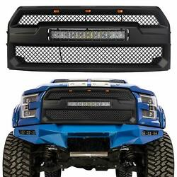 Raptor Style Grille Grill Mesh For Ford F150 2015 17 With 5D Curved 120W Led Bar $189.99