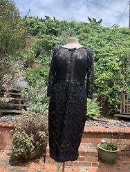Byron Lars Stargazing Black Sequin Dress Anthropologie Size 8