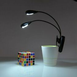 Clip On Book Reading Light Lamp LED for Bed Portable Night Travel Small battery $6.79