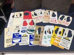 26 VTG DO NOT DISTURB HOTEL DOOR HANGERS TAGS MAID SERVICE PRIVACY CARDS  $11.50