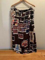 MOSCHINO CHEAP amp; CHIC Black Brown sheath Dress skirt abstract Size It 44 US10 $45.00