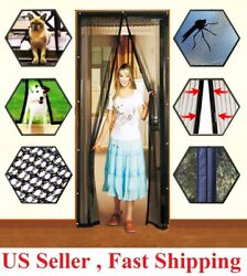 Hands Free Magnetic Screen Door Mesh Net BLOCK Mosquito Fly Insect Bug Curtain $8.39