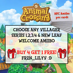 NEW Animal Crossing Amiibo NFC CARDS - POPULAR & ANY VILLAGER TO CHOOSE! $19.76