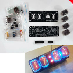 DIY KIT With Tubes Nixie Clock 4x IN 12 RGB Backlight Alarm *All parts amp; Tubes* $64.90