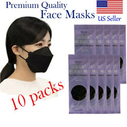 10 BLACK MASKS MOUTH NOSE COVERINGS BLACK KOREAN FACE MASK MADE IN KOREA BLACK $22.99