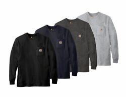Carhartt K126 Mens Workwear Jersey Pocket Long Sleeve T Shirt Pick Size amp; Color $24.95