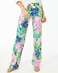 LILLY PULITZER 33quot; Georgia May Palazzo Pant MULTI ISLAND ESCAPE XS XL $69.99