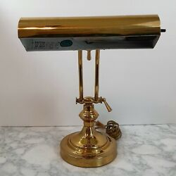 Vintage Underwriters Laboratories Portable Brass Piano or Bankers Desk Lamp $34.99