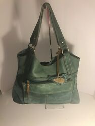 FOSSIL Green Leather Shoulder Bag Purse GUC