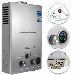 18L Hot Water Heater 5GPM Tankless On Demand Natural Gas Boiler Methane $95.80
