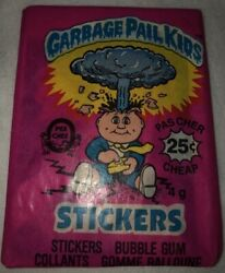 1985 GPK 1st series Garbage Pail Kids O-Pee-Chee Canadian TOPPS Single Pack $1,499.00