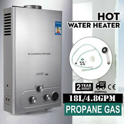 18L Propane Gas Hot Water Heater Instant Boiler On Demand Tankless Water Heater $117.90