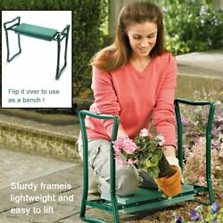 Folding Garden Kneeler Bench Kneeling Soft Eva Pad Seat With Stool Pouch US $26.99
