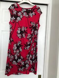 Petite Red Floral Dress Size 16 From Debenhams $6.26