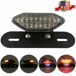 Motorcycle 16 LED Turn Signals Brake Light License Plate Integrated Tail Light $22.50