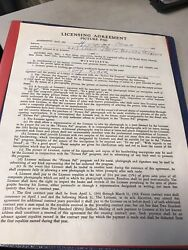 Tony Kubek New York Yankee Great 1963 Signed Contract Beckett Authenticated $150.00