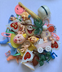 Vintage Cake Topper Lot Valentines Baby Birds Clowns Sports Palm Trees Golf Toys $29.99