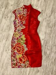 NWOT Chinese Hand Sew Silk Traditional Dress Red US 2 $250.00