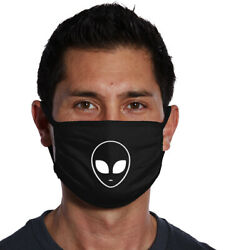 ALIEN Head Three Ply Cotton  Face Mask  FAST SHIPPING $9.99