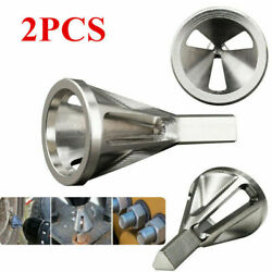 2pc Deburring External Chamfer Tool Drill Bit Remove Burr Stainless Steel Silver $9.98