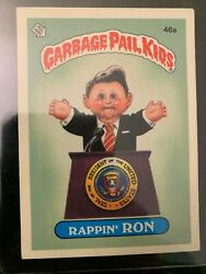 1985 Garbage Pail Kids Stickers #46A RAPPIN RON (GLOSSY)...............EX-MT $11.88