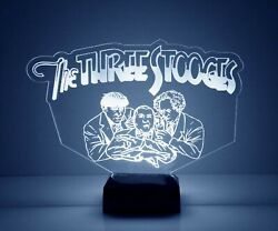 The Three Stooges Personalized LED Night Light with Remote Control Desk Lamp  $39.99