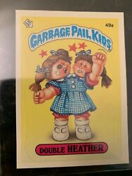 1985 Garbage Pail Kids Stickers #49A DOUBLE HEATHER (GLOSSY)......EX-MT++ $12.07