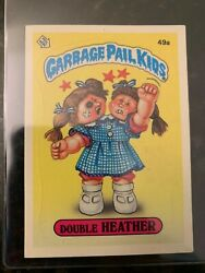 1985 Garbage Pail Kids Stickers #49A DOUBLE HEATHER (GLOSSY)............EX-MT++ $12.15