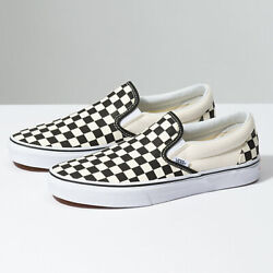 Vans Slip On Checkerboard Black Classic Shoes FREE SHIPPING $50.99