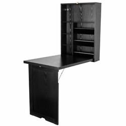 Space Saving Floating Desk Wall Mounted Fold-Out Table for Home& Office Black $189.69