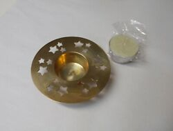 Solid Brass with Cut Out Stars Tealight Votive Candle Holder $9.99