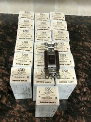 Lot of 19 Cooper Commercial Grade 3 Way Toggle Switch 15A 120 277V 1203 Brown