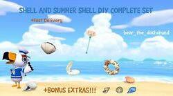COMPLETE Shell and Summer Shell DIY Set: Animal Crossings New Horizons $5.99
