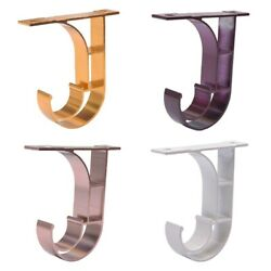 Single Hang Curtain Rod Holders Bracket Into Window Frame Curtain Rod Brackets $6.99