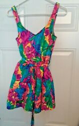 Le Cove Women#x27;s Colorful Floral Tummy Control Skirted Bathing Suit Size 14 $35.00