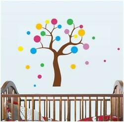 Colorful Dotted Tree Wall Art Decal Polka Dots Paper Sticker $8.00