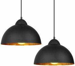 2 Pack Industrial Ceiling Light Barn Metal Kitchen Hanging Pendant Lamp Fixture $29.99