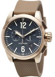 $450 New in Box Filson Navy Blue Bronze Chronograph Watch - Men's $250.00