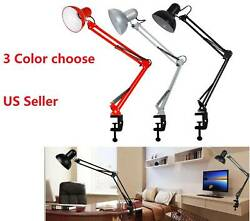 Flexible Desk Lamp Swing Arm Clamp Mount Table Light Reading for JHome Office $25.77