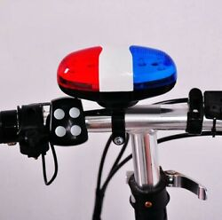 Bike LED light Police Sound Horn Siren Waterproof Bicycle for kids $11.99