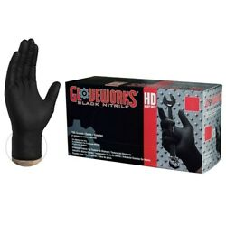 Ammex GloveWorks Black Nitrile Gloves- Large- 100ctbox- GWBN46100 $25.50