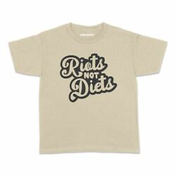 Riots Not Diets Kids Tshirt Funny Cake Cheeky Cute Teens Youth AU $23.95